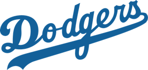Dodgers vector. Los angeles logo eps jpg black and white