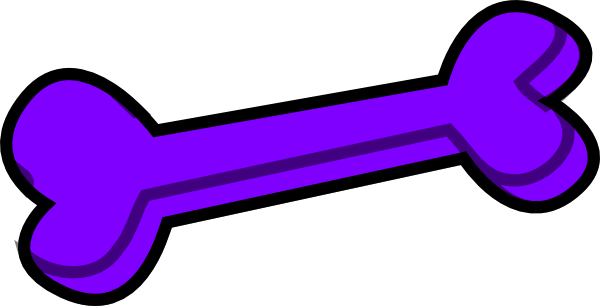 Transparent bone purple