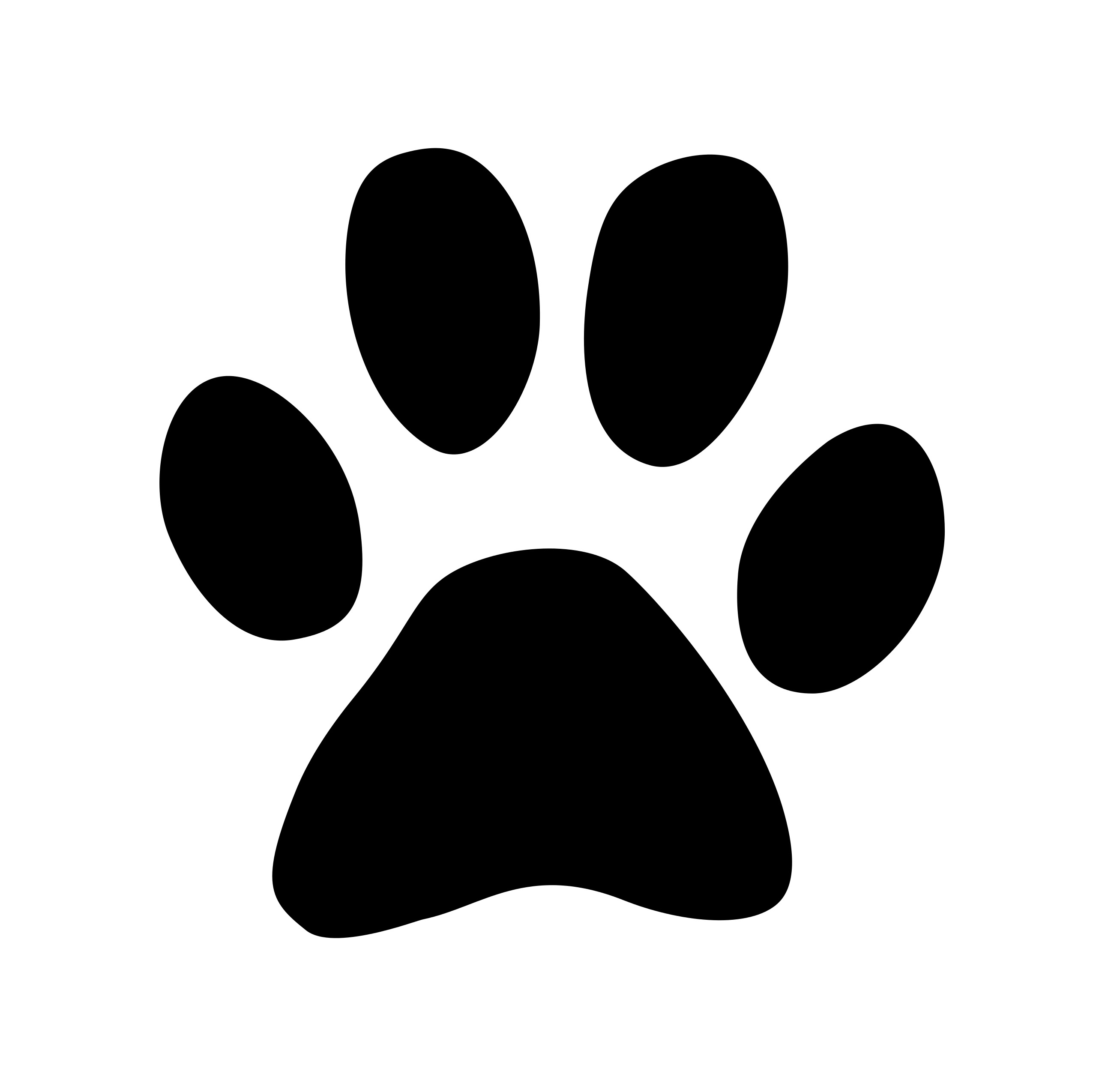 Dog claw. Paw print free vector
