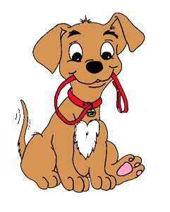 Dog clip art. Walk puppy with clipart