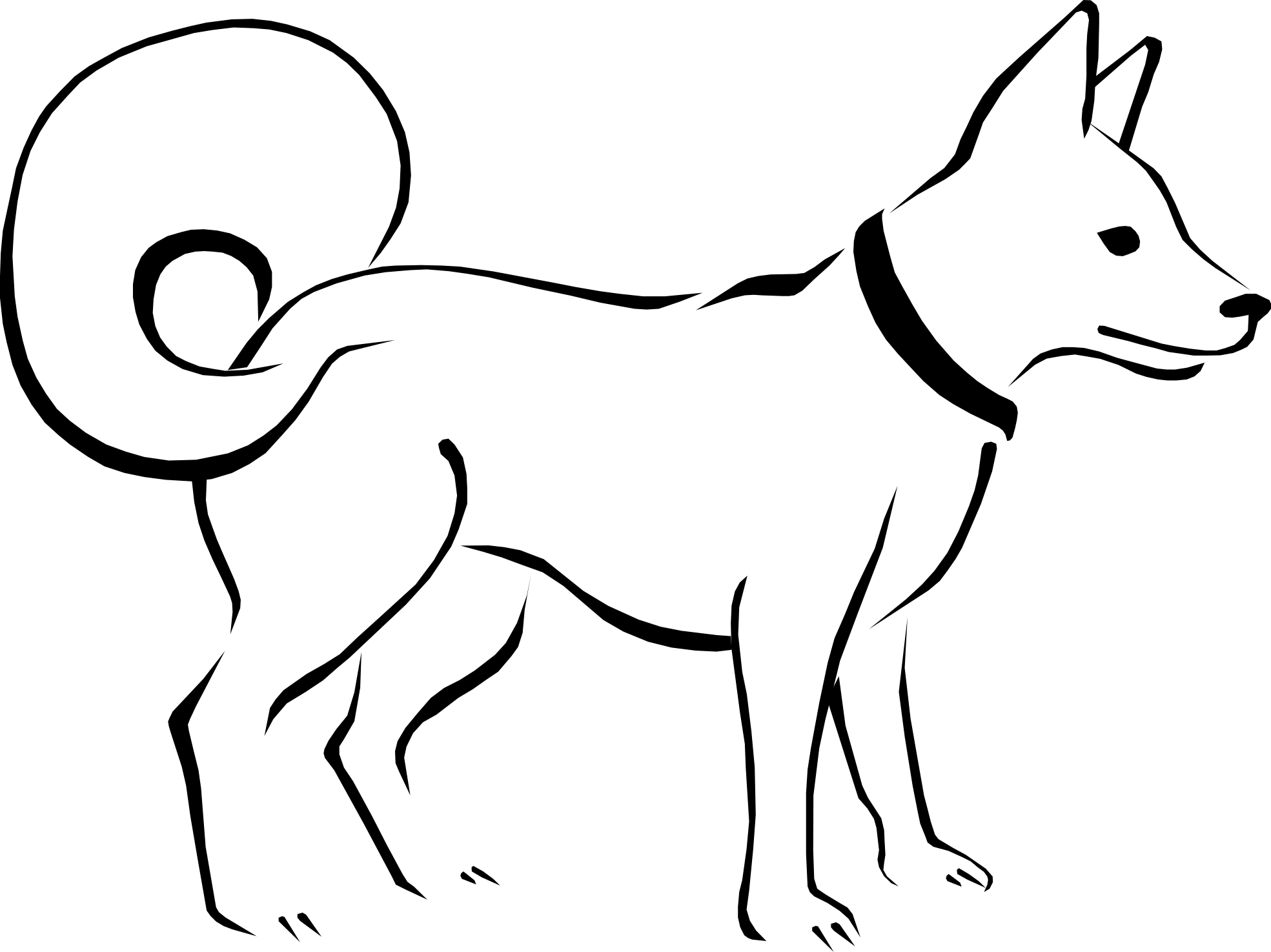 Dog clip art black and white. Free cliparts download on