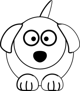 Dog clip art black and white. At clker com vector