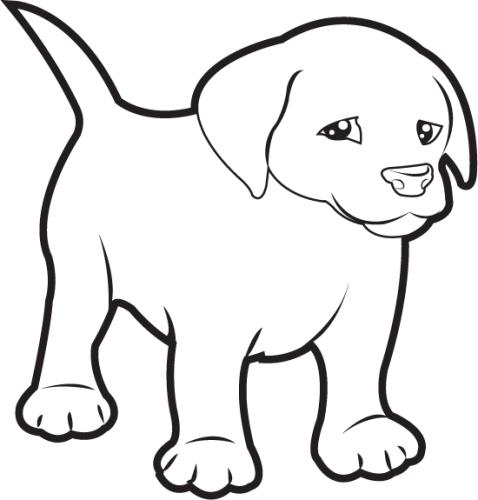 Dog clip art black and white. Drawing at getdrawings com