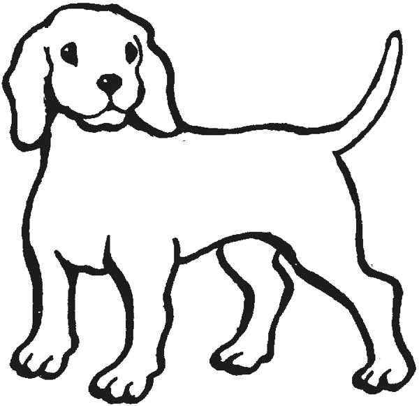 Dog clip art black and white. Clipart outline of a