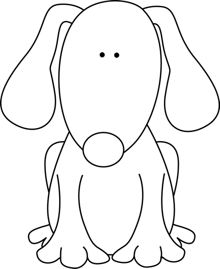 Dog clip art black and white. For d image