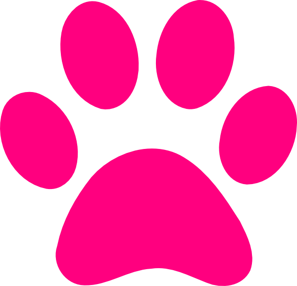 Paw clip art transparent background. Pink print dog