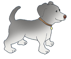 Dog clip art cute. Funny dogs gray with