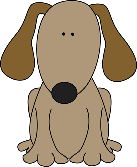 Tall clipart. Cute dog clip art