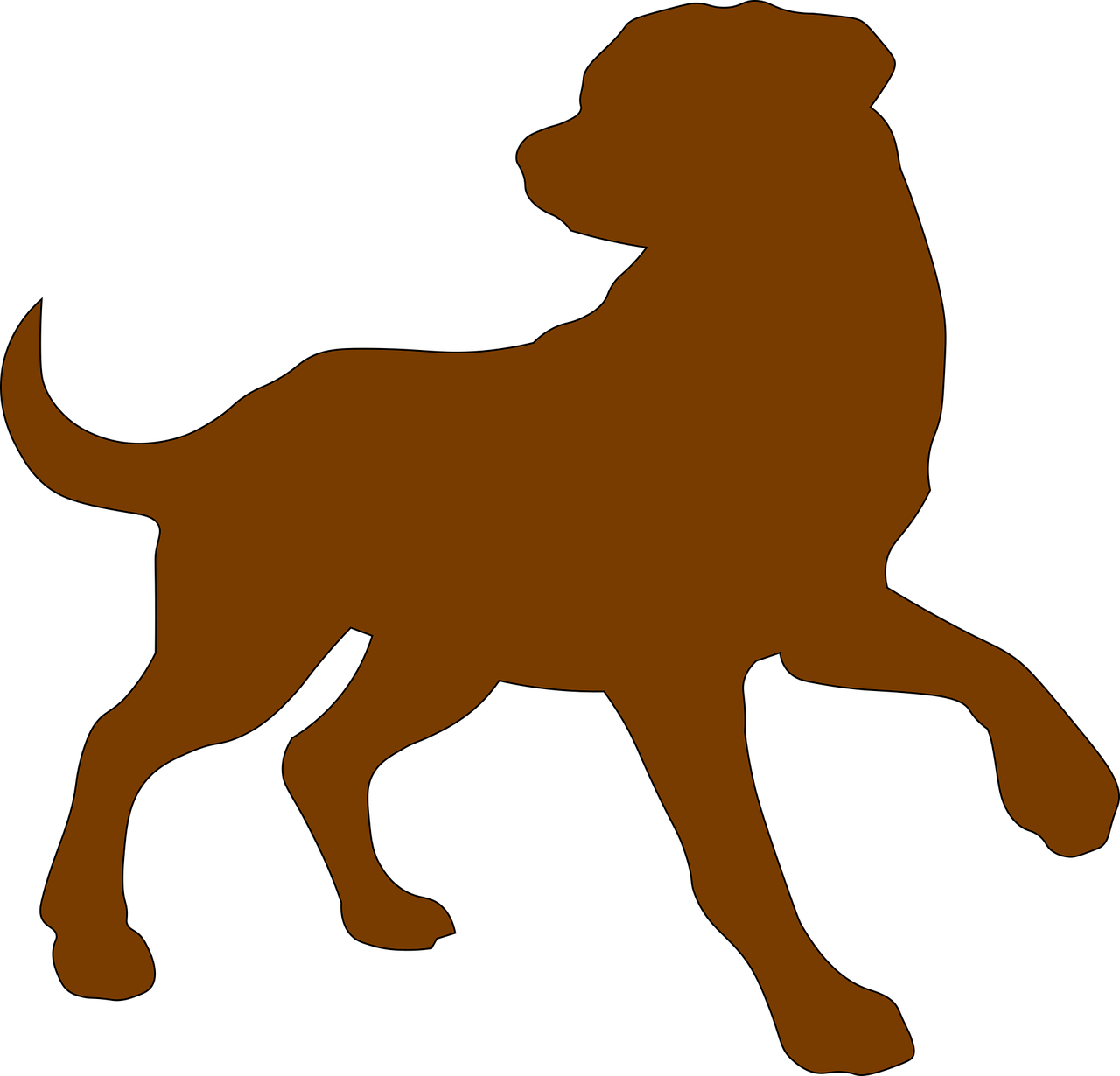 Dog clip art domestic dog. Free image on pixabay