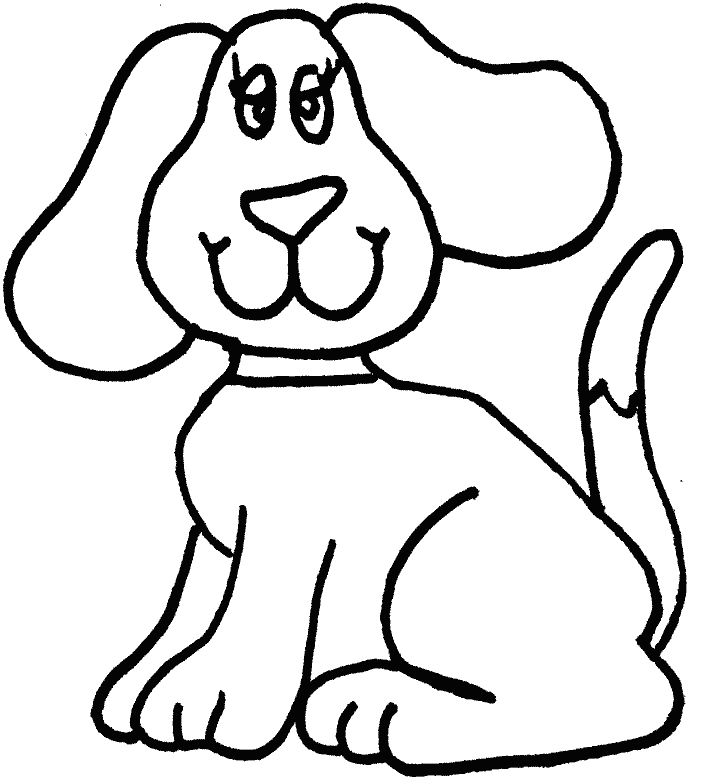 Dog clip art easy. Simple coloring page pinterest
