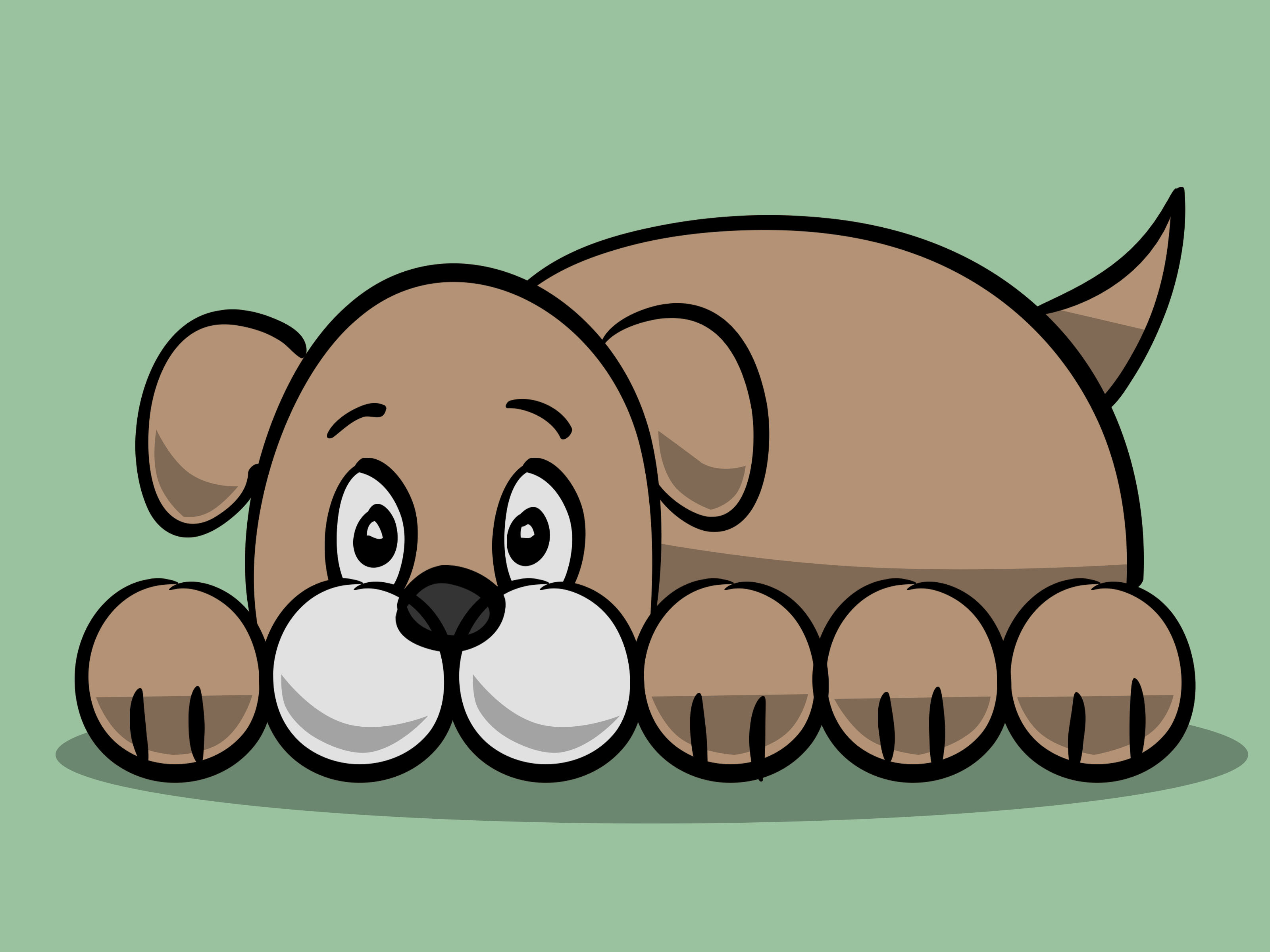 Dog clip art easy. How to draw a