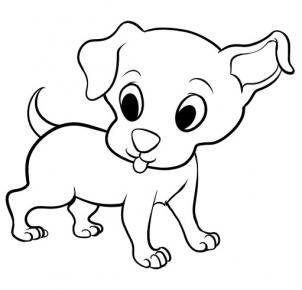 Dog clip art easy. Drawing of a cartoon