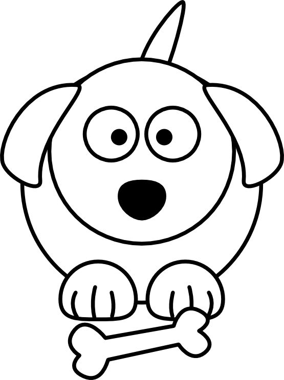 Line drawing of dogs. Dog clip art easy clipart freeuse