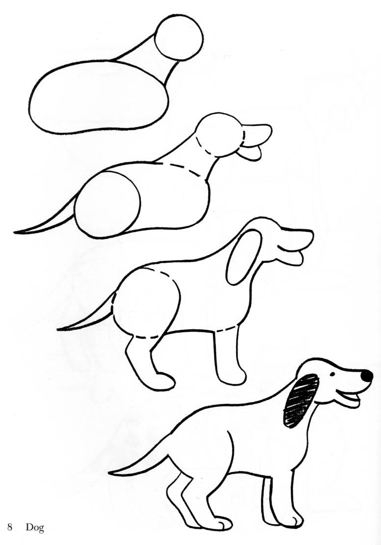 Dog clip art easy. Drawing a also other