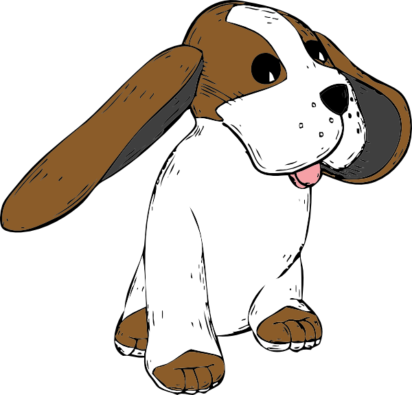 Dog clip art female dog. The big earred bobo