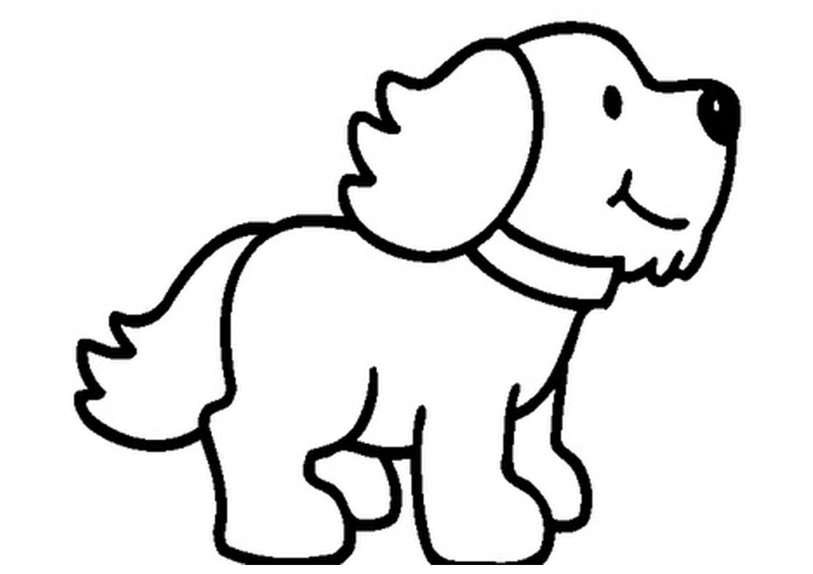 Dog clip art line drawing. Animals clipart animal pencil