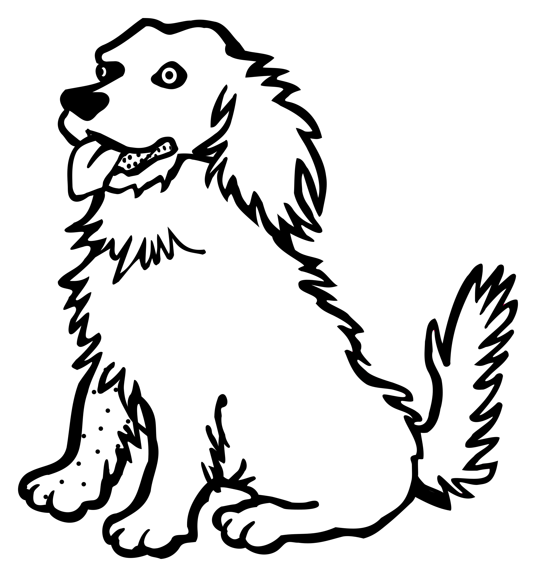 Dog clip art line drawing. At getdrawings com free