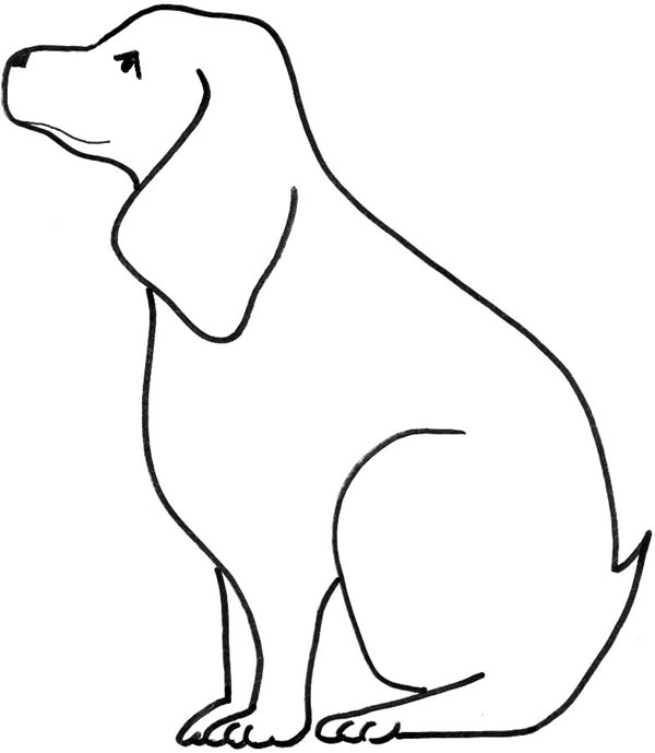 Dog Line Drawings Clip Art Free Clear