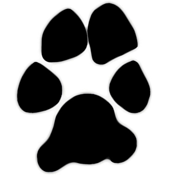 Paw clip art paw print. Dog free download clipart