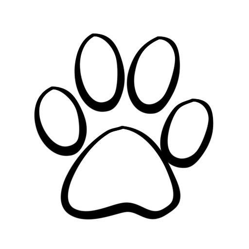 Paw clip art black and white. Dog print best ideas