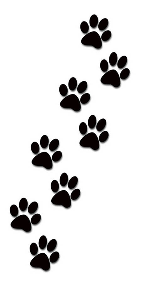 Paw clip art paw print. Dog prints clipart image
