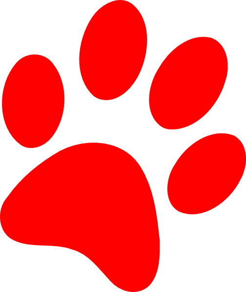 Dog clip art paw print. Silhouette at getdrawings com