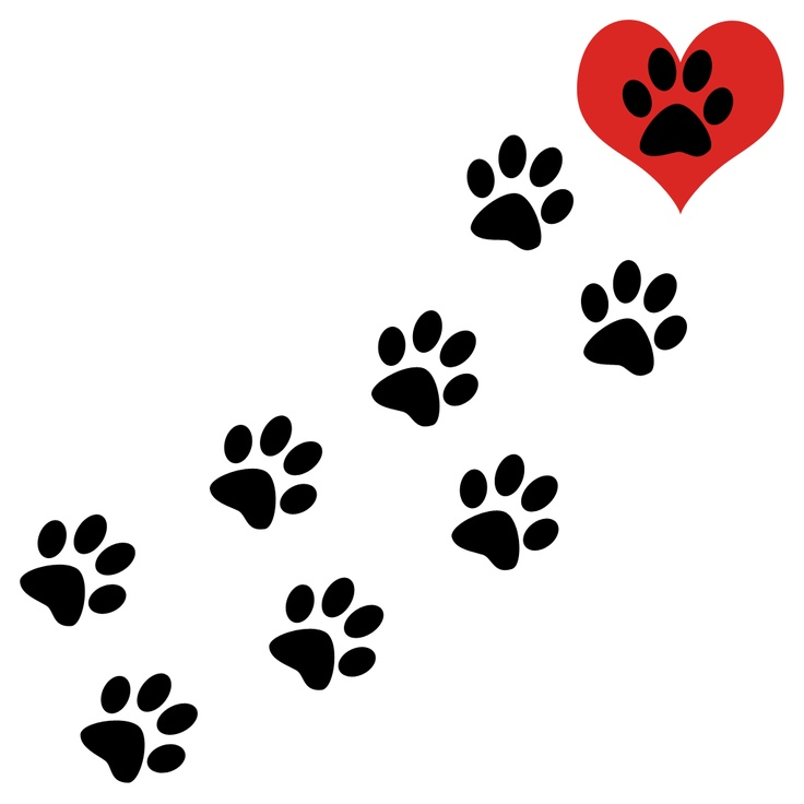 Dog clip art paw print. Prints brown clipart