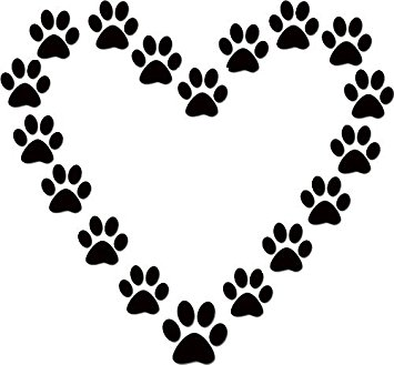 Dog clip art paw print. Amazon com heart lover