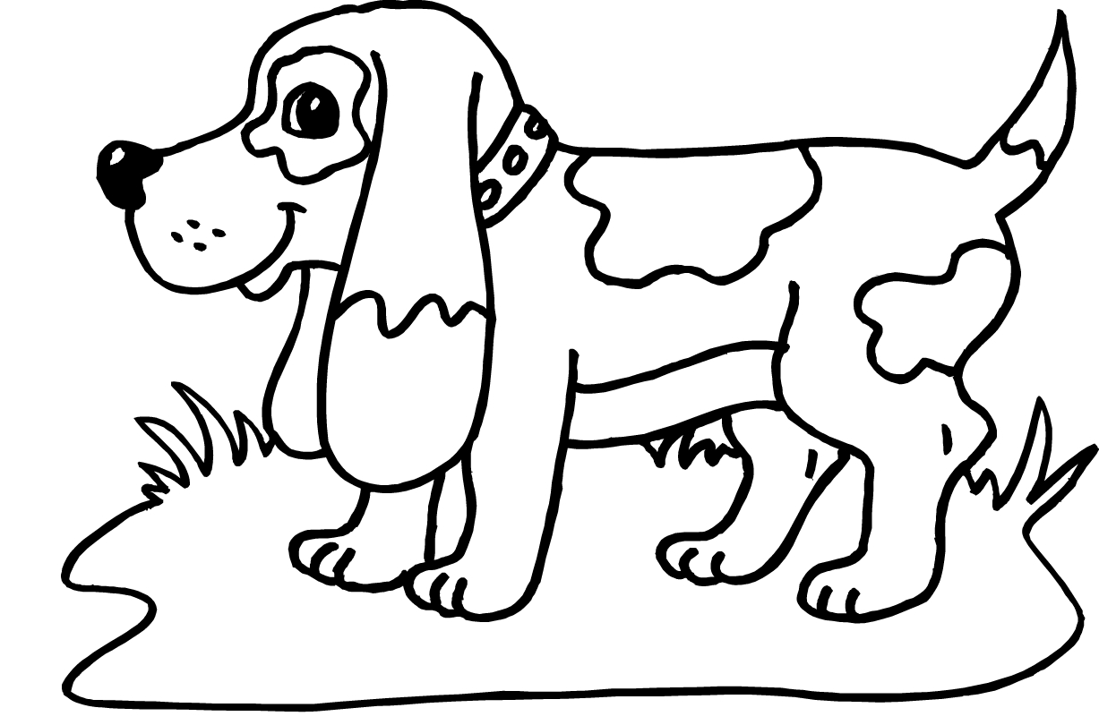 Dog clipart colour. Awesome printable picture of