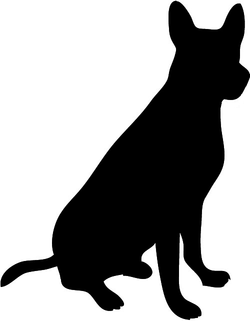 Dog clip art silhouette. Schaefer male jpg clipart
