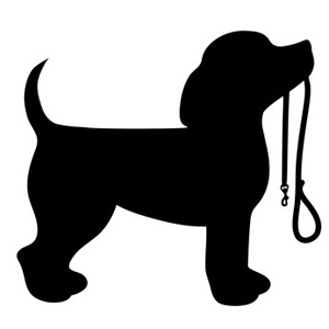 Dog clip art silhouette. Beagle puppy pictures of