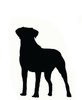 Dog clip art silhouette. Of large pictures in