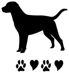 Dog clip art silhouette. Free pug image with