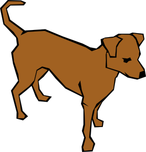 Dog clipart. Drawn with straight lines