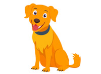 Golden retriever clipart orange dog. Free clip art pictures