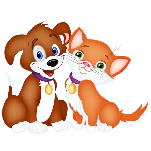 Dog clipart cat. And