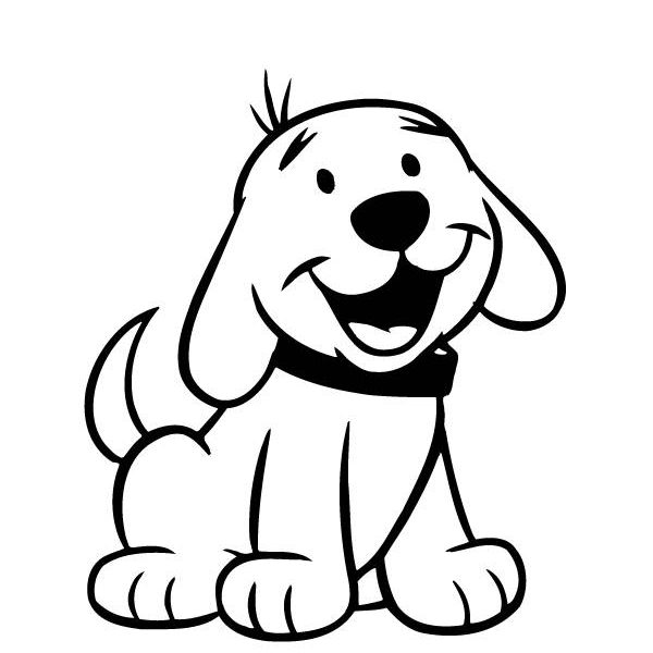 Dog clipart colour. For colouring coloring pages