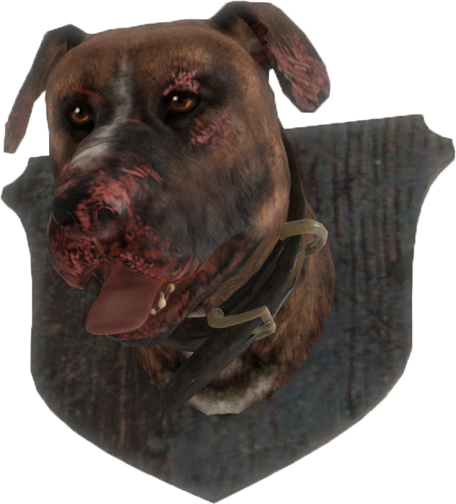 Dog head png. Image fo mounted fallout