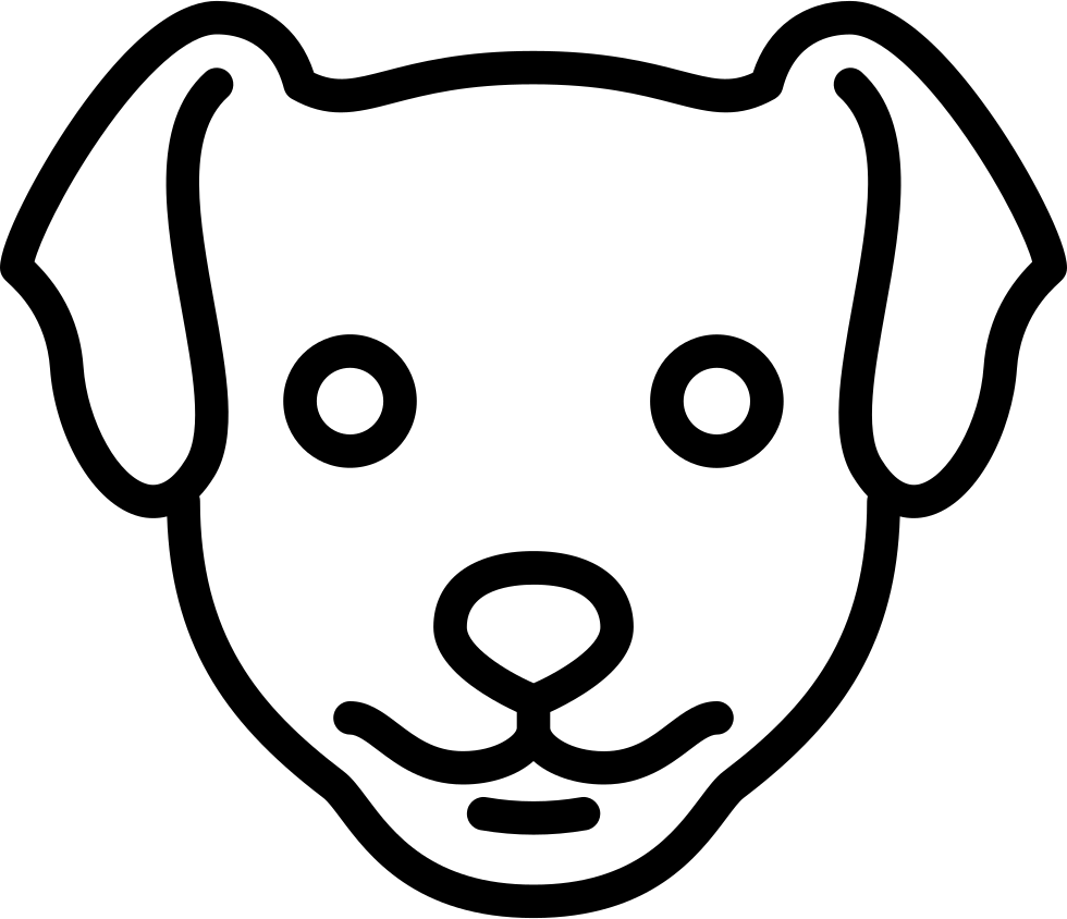 Dog head png. Svg icon free download
