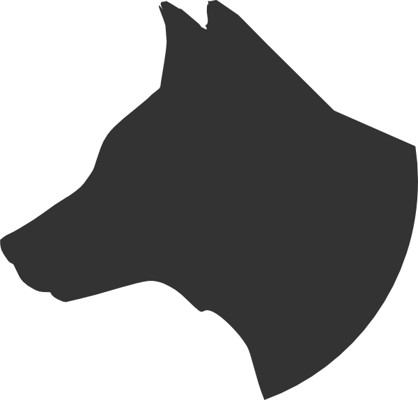 Dogs vector paper cutting. Free dog head silhouette