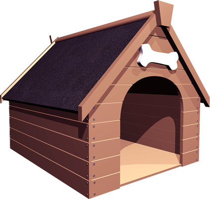 Dog house png. Photo