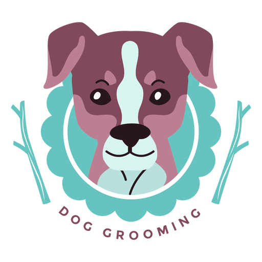 Poodle svg logo design. Dog grooming transparent png