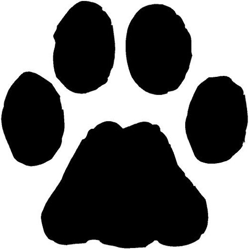 Dog paw. Free print download clip