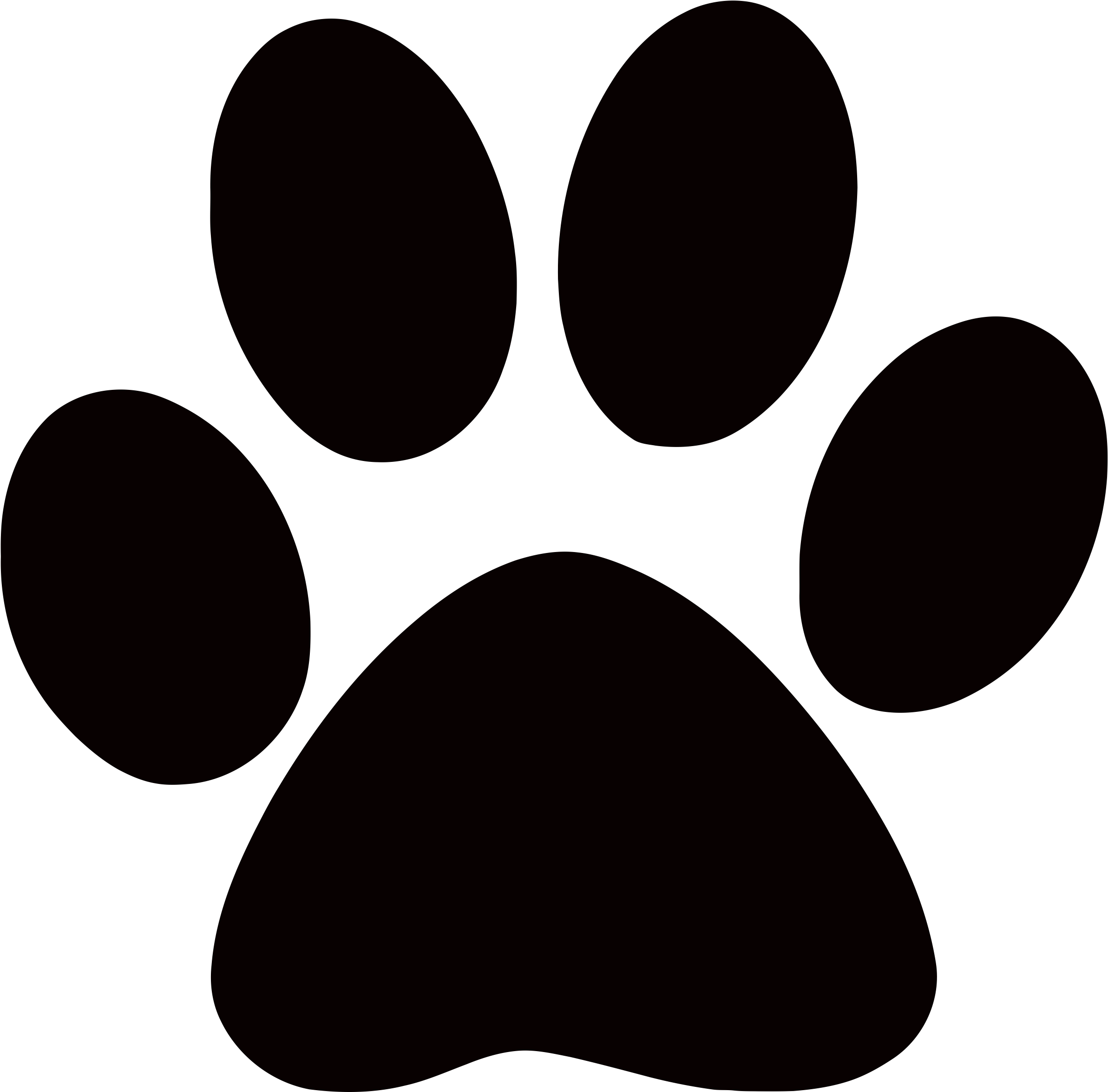 Dog paw. Download print clipart no