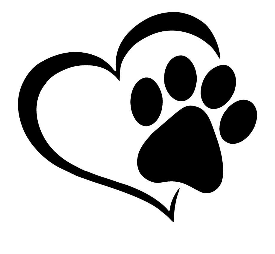 Dog paw. No clipart black and