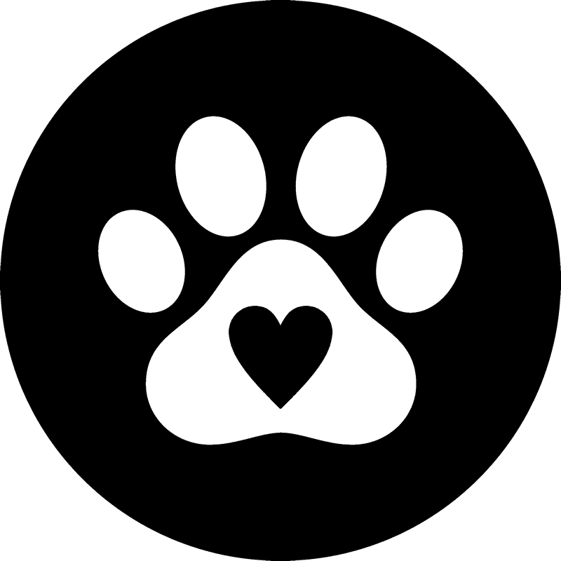Dog paw heart png. Print seal with rubber