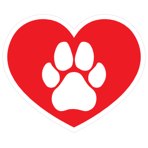 I love my with. Dog paw heart png black and white