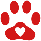 Dog paw heart png. In print cat men