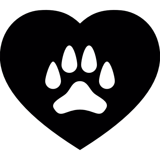 Dog paw heart png. On a icons free