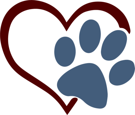 Dog paw heart png. Svgs the craft chop